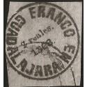 J) 1868 MEXIO, GUADALAJARA PROVISSIONAL, 2 REALES GRAY, WOVE PAPER, XF