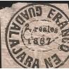J) 1867 MEXICO, GUADALAJARA PROVISSIONAL, 2 REALES, XF