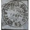 J) 1867 MEXICO, GUADALAJARA PROVISSIONAL, 1 REAL BLE, XF