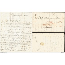 O) 1858 CARIBE, SPAIN OCCUPATION - CORREO OFICIAL- OFFICIAL MAIL, 1/2 ONZA, TO MATANZAS, XF