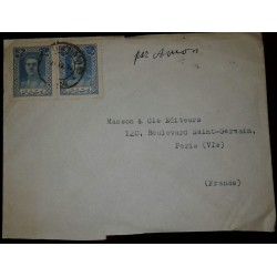 L) 1942 PERSIA, MOHAMMAD REZA PAHLEVI, 5R, BLUE, AIRMAIL, CIRCULATED COVER FROM PERSIA TO FRANCE