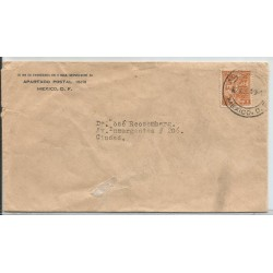 J) 1943 MEXICO, YALALTECA INDIAN, COMMERCIAL COVER, CIRCULATED COVER, INTERIOR MAIL WITHIN TO MEXICO