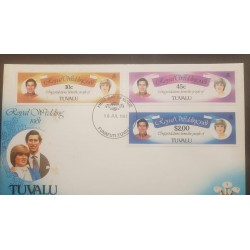 O) 1981 TUVALU, PRINCE CHARLES AND LADY DIANA-SCT 158-SC 160-SC 162, FDC XF