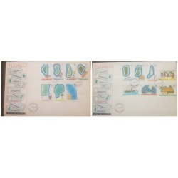 O) 1976 TUVALU, NUKULAELAE-SLLEPING, NUI -TALO VEGETABLE, NANUMANGA-GRASS DANCING SKIRT, NUKUFETAU-COCONUT CRAB, FUNAFUTI