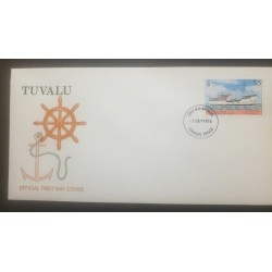 O) 1976 TUVALU, COLONY SHIP M.V. NIVANGA, FDC XF