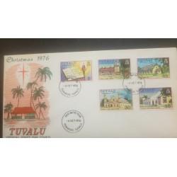 O) 1976 TUVALU-CHRISTMAS -ARCHITECTURE-CHURCH, NEW TESTAMENT -LOTOLELEI -NANUMEA, KELUPU -NUI, MATALOA O TUVALU-VAITUPU