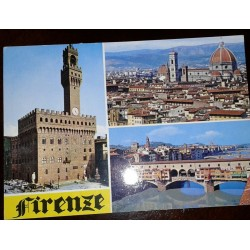 L) 1990 ITALY, SOCCER WORLD CUP, STADIUM, ARCHITECTURE, FLORENCE, CHURCH, BRIDGE, CITY, AIRMAIL