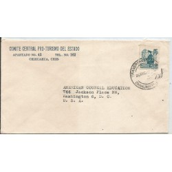 J) 1957 MEXICO, COMMERCIAL LETTER, CENTRAL COMMITTEE PRO-TURISMO OF STATE, AIRMAIL, CIRCULATED COVER, FROM CHIHUAHUA TO USA