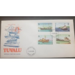 O) 1978 TUVALU. SHIPS -PACIFIC EXPLORER- LAWEDUA-TUGA WALLACIA-FREIGHTER CENPAC ROUNDER-FDC XF