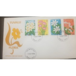 O) 1978 TUVALU, WILD FLOWERS-ZEPHYRANTES-GARDENIA-CLERODENDRON-FRANGIPANI, FDC XF