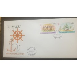 O) 1978 TUVALU, FATELE -LOCAL DANCE, SCREW PINE-OTHERS AS BEFORE, FDC XF
