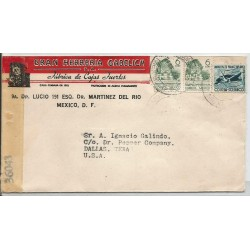 J) 1944 MEXICO, COMMERCIAL LETTER, GRAN HERRERÍA GABELICH, FACTORY OF STRONG BOXES, CAMPAIN AGAINST MALARIA