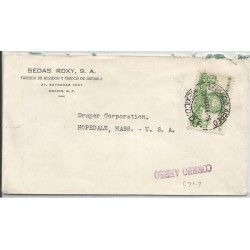 J) 1948 MEXICO, COMMERCIAL LETTER, SEDAX ROXY, ARTISELA YARN AND FABRICS FACTORY, PYRAMID OF THE SUN, AIRMAIL