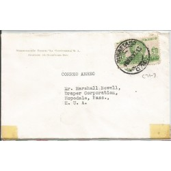 J) 1947 MEXICO, COMMERCIAL LETTER, TEXTILE NEGOTIATION LA CONCORDIA, PYRAMID OF THE SUN, AIRMAIL