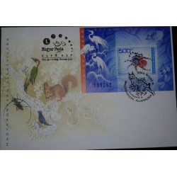 O) 2003 HUNGARY, INSECTS-SPIDER-ERESUS CINNABARINUS-BIRD-REPTILE,SQUIRREL, FDC XF