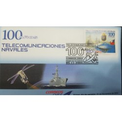 O) 2004 CHILE, NAVAL TELECOMUNICATIONS -SATELLITE-SPACE - NAVAL SHIP, FDC XF