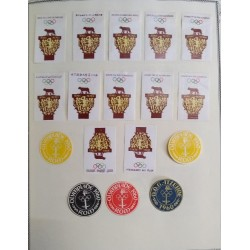 O)1960 OLYMPIC GAMES ROME - ROMULUS AND REMUS, WOLF EMBLEM STICKERS-ADHESIVES, XF