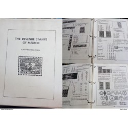 J) 1979 MEXICO, THE RENUEVE STAMPS OF MEXICO BY RICHARD BYRON STEVENS, VERSION IN ENGLISH, WHITE AND BLACK, 351 PAGES