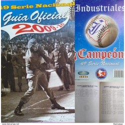 J) 2010 MEXICO, BOOK, 49 NATIONAL SERIES, OFFICIAL BASEBALL, BLACK AND WHITE GUIDE, SPANISH VERSION, 420 PAGES