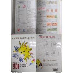 J) 2008 FRANCE, BOOK, WORLD CATALOG OF QUOTATION, YVERT&TELLIER, FRANCE STAMPS, VOLUME I