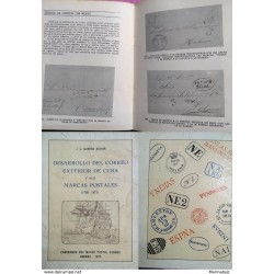 J) 1973 CARIBE, BOOK, DEVELOPMENT OF THE OUTER MAIL OF CARIE AND ITS POSTAL MARKS, NOTEBOOKS OF THE POSTAL MUSEUM