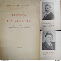 J) 1948 MEXICO, BOOK, ICONOGRAPHY OF FINANCE SECRETARIES AND CHARTERS OF RAMO, SINCE THE MEXICAN