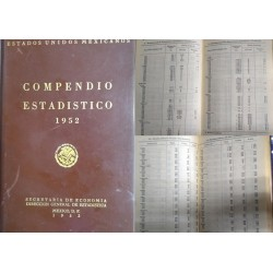 J) 1953 MEXICO, STATISTICAL COMPENDIUM SECRETARY OF ECONOMY GENERAL DIRECTORATE OF STATISTICS MEXICO