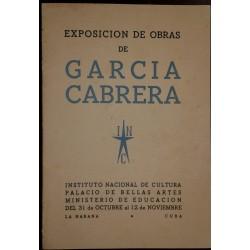 O) SPANISH ANTILLES, BOOK-EXPOSICION DE OBRAS DE GARCIA CABRERA, XF