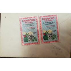 L) 1937 MEXICO, NATIONAL EXHIBITION OF AGRICULTURE AND LIVESTOCK, BULL, DTO BUZONES, CIRCULATED COVER