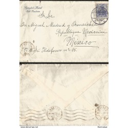E) 1868 GREAT BRITAIN, A15, COMPLETE LETTER COVER FROM LONDON TO CARIBE, F