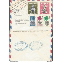 J) 1965 MEXICO, XIX OLYMPIC GAMES, IX CONGRESS OF THE POSTAL UNION OF THE AMERICAS AND SPAIN
