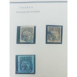 O) 1896 CIRCA-FRANCE, LIBERTY AND PEACE - TELEGRAPHE, XF