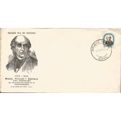J) 1953 MEXICO, MIGUEL HIDALGO Y COSTILLA, 200 ANNIVERSARY OF THE BIRTH OF THE FATHER
