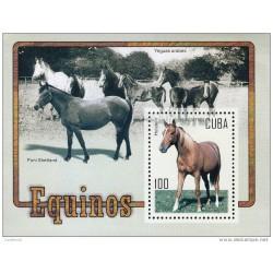 RG)2005 SPANISH ANTILLES, HORSES, ARABIAN MARES- SHETLAND PONY-HOLSTEIN, S/S, MNH