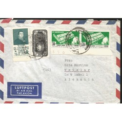 J) 1965 VATICAN, PAUL VI VISITS JERUSALEM, AIRMAIL, CIRCULATED COVER, FROM VATICAN CITY TO MEXICO