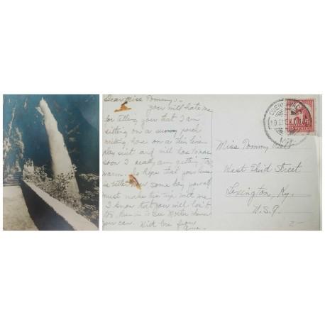 O) 1916 ITALY, COLONIAS VICTOR EMMANUEL III , SEAL TRIPOLI RED, CENSORSHIP, MULTIPLE COVER 5 CENTESIMI GREEN, XF