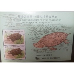 O) 1996 KOREA, PROTECTION OF WILD ANIMALS AND PLANTAS,-PROTECTION OF NATURE GEOCHEMYS.SCT 1865, MNH