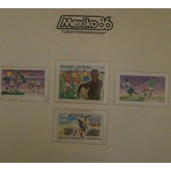 O) 1986 MALI - 1986 WORLD CUP SOCCER CHAMPIONSHIPS MEXICO VARIOUS SOCCER PLAYS SCT 535, WALLIS AND FUTUNA UNICEF SCT 339