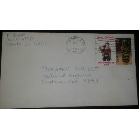 O) 1989 UNITED STATES -USA, AMERICA UPAEP - PRE COLUMBIAN, SOUTHWEST CARVED AD 1150-1350 -RITUAL FIGURE, MOGOLLON CULTURE