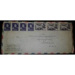 O) 1959 MIDDLE EAST - PERSIA, MOHAMMAD REZA SHAH PAHLAVI SCT 1142 1r, PLANE ABOVE MOSQUE -ARCHITECTURE- SCT C72 5r, ALITALIA