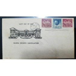 O) 1970 CANAL ZONE, US POSSESSIONS, JOHN F. STEVENS 5c, ADMINISTRATION BUILDING  4c, BALBOA HEIGHTS CANCELLATION, FDC XF