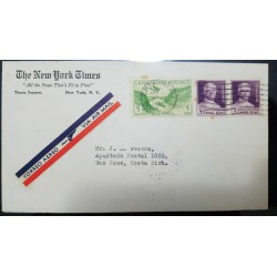 O) 1936 CANAL ZONE, GAILLARD CUT SCT C7 5c, GENERAL GEORGE WASHINGTON GOETHALS 3c - PANAMA CANAL OPENING, AIRMAIL, THE NEW YORK
