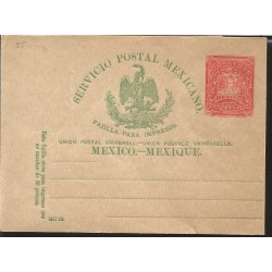 J) 1898 MEXICO, LETTER CARRIER, MEXICAN POSTAL SERVICE, EAGLE, PRINTED PAD, POSTAL