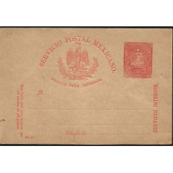 J) 1898 MEXICO, LETTER CARRIER, BROKEN TITLE, MEXICAN POSTAL SERVICE, EAGLE, PRINTED PAD