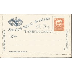 J) 1895 MEXICO, MOUNTED COURIER WITH PACK MULE, MEXICAN POSTAL SERVICE, URBAN SERVICE