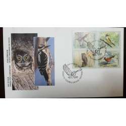 O) 1998 CANADA, BIRDS - HAIRY - GREAT CRESTED -EASTERN SCREECH OWL - GRAY CROWNED, TORONTO ONTARIO, FDC XF
