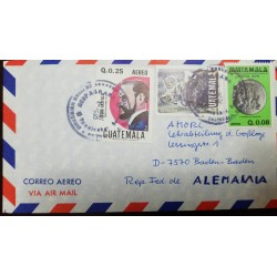 O) 1982 GUATEMALA, MUSICIAN JESUS CASTILLO, OWL, POPOL VUH -MYTHOLOGY K´ICHE PEOPLE, AIRMAIL TO GERMANY