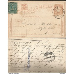 J) 1895 MEXICO, MEXICAN POSTAL SERVICE, CARRIER LETTER, INTERIOR SERVICE, POSTAL STATIONARY