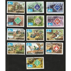 V) 1975 GRENADA, BOY SCOUTS, 14TH WORLD JAMBOREE-NORWAY, MNH