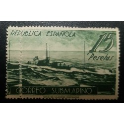 O) 1938 SPAIN, SUBMARINE MAIL - U-BOAT D1 - SCT 605f 15p -SERVICE BETWEEN BARCELONA -SOLD ONLY AT THE PHILATELIC AGENCY